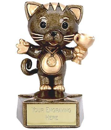 """Cat Trophy 9cm (3.5"""")"""