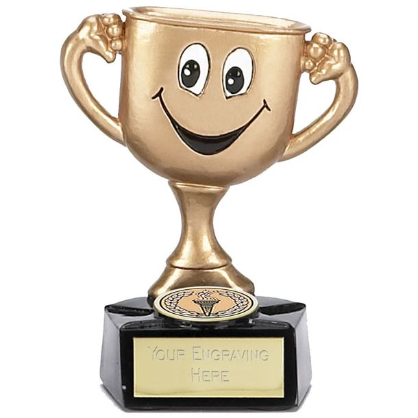 """Children's Trophy Cup Gold with Face 9.5cm (3.75"""")"""
