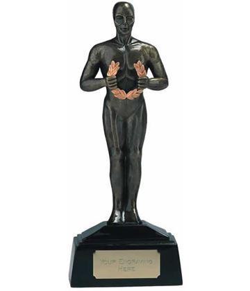 "Antique Gold Achievement Figurine Award Trophy 23cm (9"")"