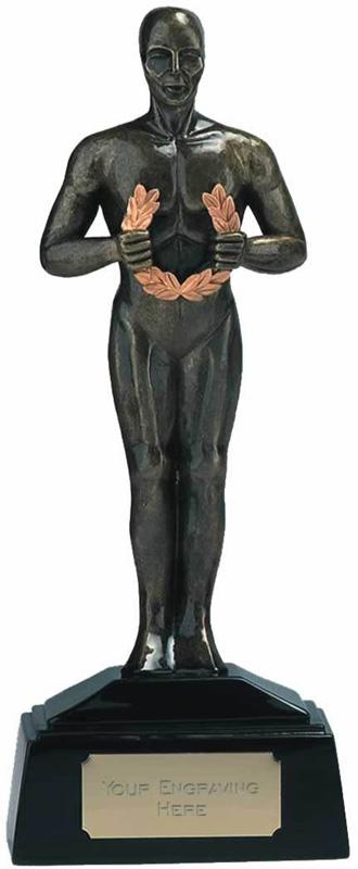 "Antique Gold Achievement Figurine Award Trophy 18.5cm (7.25"")"