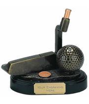 "Gold Golf Club Putter Trophy 10cm (4"")"