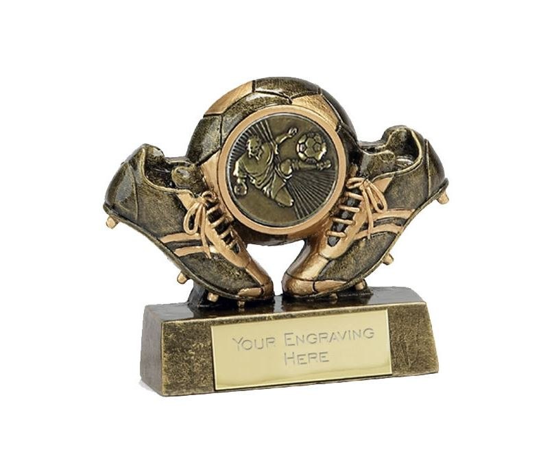 """Miniature Football Trophy in Gold 7cm (2.75"""")"""