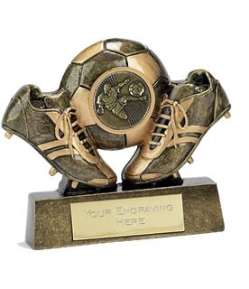 """Miniature Football Trophy in Gold 9.5cm (3.75"""")"""