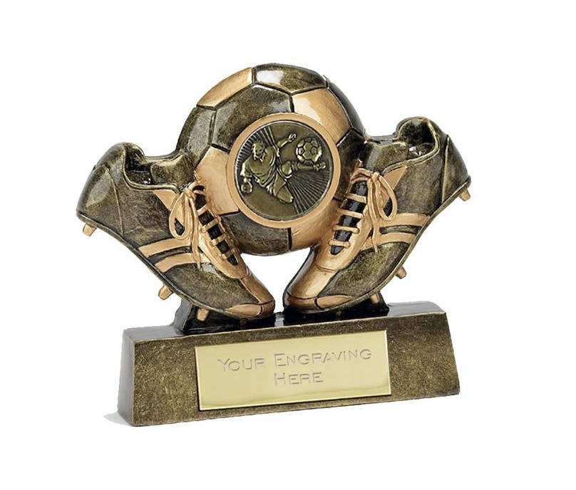 "Miniature Football Trophy in Gold 9.5cm (3.75"")"