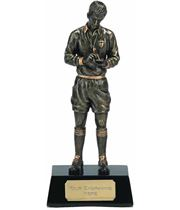 "Gold Referee Football Trophy 18.5cm (7.25"")"