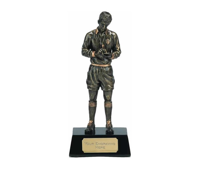 """Gold Referee Football Trophy 18.5cm (7.25"""")"""