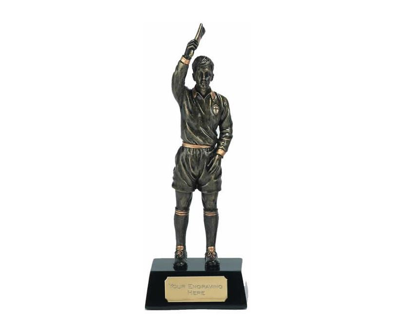 "Gold Referee Football Trophy 20.5cm (8"")"