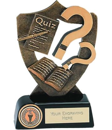 "Quiz Competition Trophy 16.5cm (6.5"")"