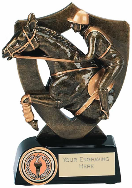 """Equestrian Trophy Award in Gold 14cm (5.5"""")"""