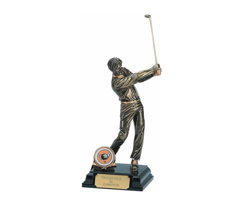"""Golfer Swinging Golf Club Trophy 19.5cm (7.75"""")"""
