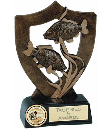 """Fishing Trophy with Two Fish 13.5cm (5.25"""")"""