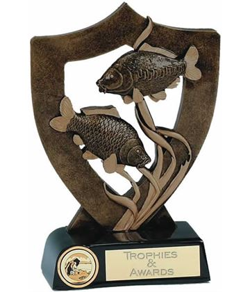 """Fishing Trophy with Two Fish 20.5cm (8"""")"""
