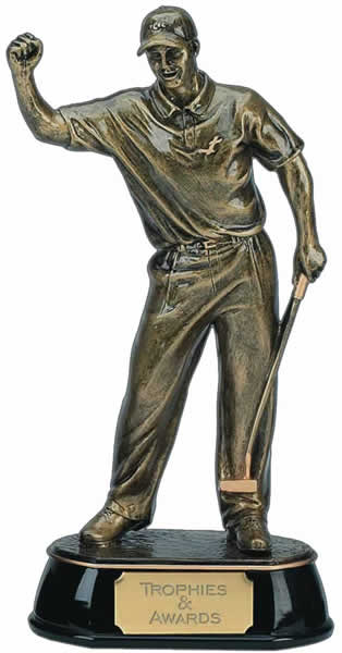 "Gold Golf Award Trophy of Golfer 19.5cm (7.75"")"