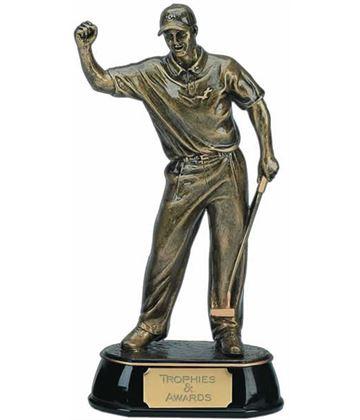 """Gold Golf Award Trophy of Golfer 19.5cm (7.75"""")"""