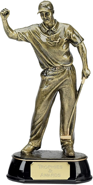"Gold Golf Award Trophy of Golfer 30.5cm (12"")"
