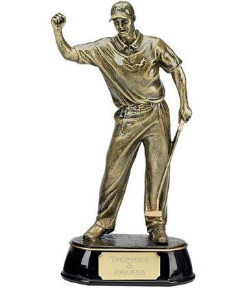 """Gold Golf Award Trophy of Golfer 30.5cm (12"""")"""