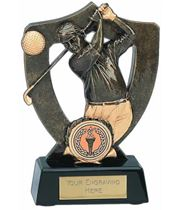 "Golf Celebration Shield Award 14cm (5.5"")"