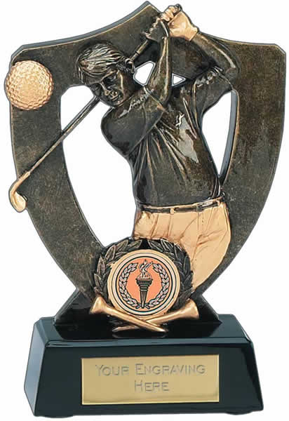 "Golf Celebration Shield Award 18cm (7"")"