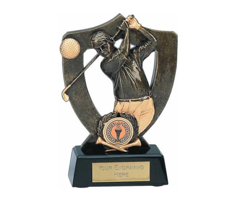"Golf Celebration Shield Award 18cm (7"")"