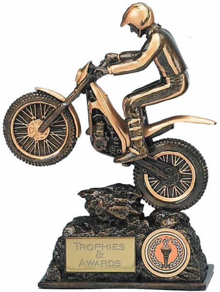 "Motorbike Trials Trophy Award 19cm (7.5"")"
