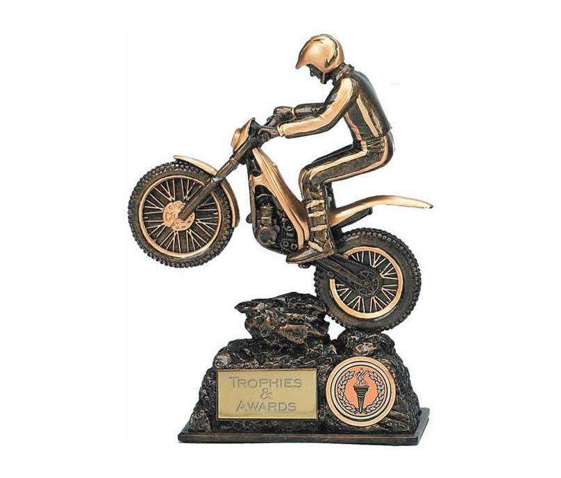 "Motorbike Trials Trophy Award 19cm (7.5"")"