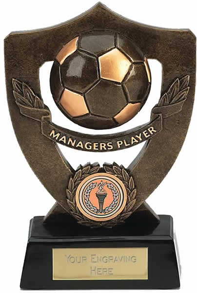 """Managers Player Football Shield Award 18cm (7"""")"""