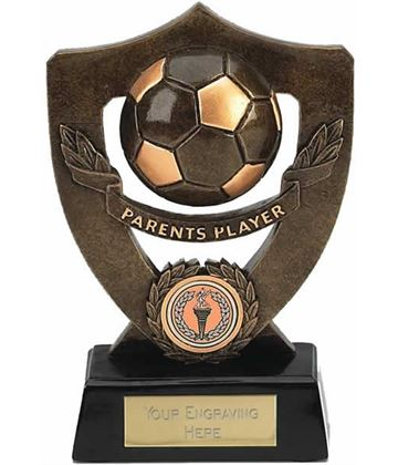 "Parents Player Football Shield Award 18cm (7"")"