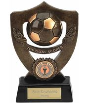 "Top Goal Scorer Football Shield Award 18cm (7"")"