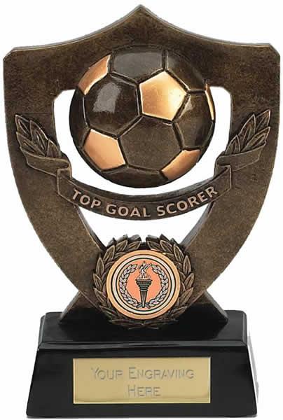 "Top Goal Scorer Football Shield Award 18cm (7"")"