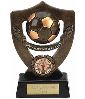 "Most Improved Player Football Shield Award 18cm (7"")"