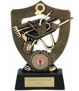 "Antique Gold Gardening Trophy Award 18cm (7"")"