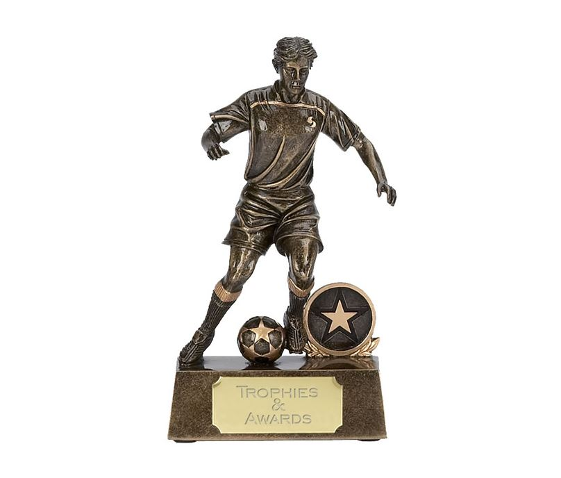 """Male Soccer Player in Action Trophy 13.5cm (5.25"""")"""