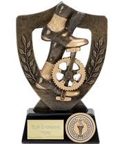 "Cycling Bike Pedal Trophy Award 13.5cm (5.25"")"