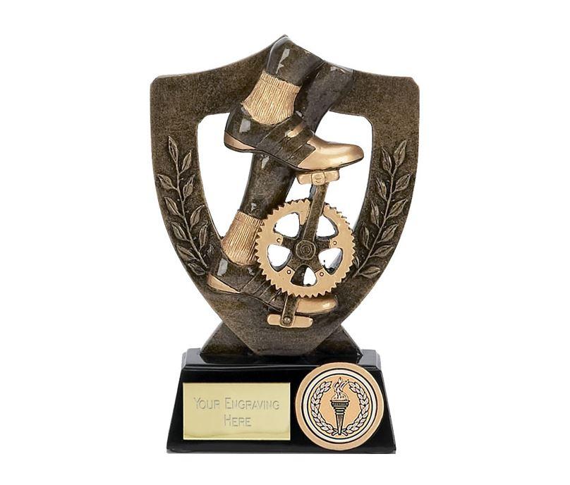 "Cycling Bike Pedal Trophy Award 13.5cm (5.25"")"