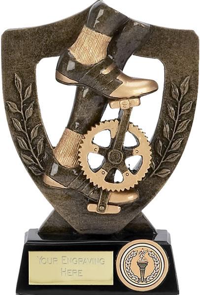 "Cycling Bike Pedal Trophy Award 17cm (6.75"")"