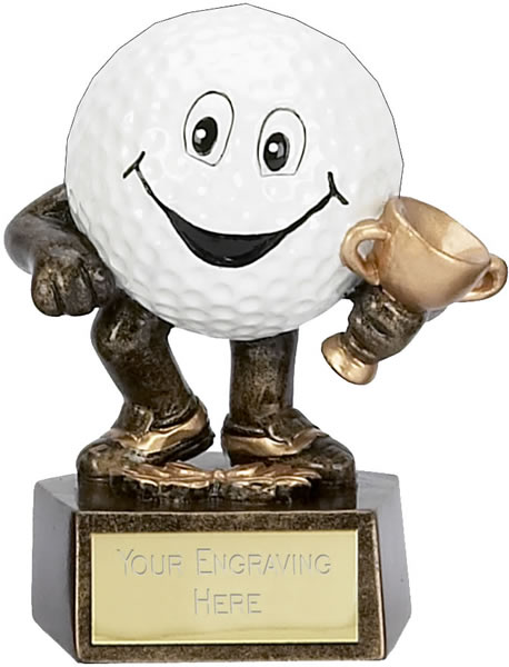 "Novelty Golf Club Character Trophy 9.5cm (3.75"")"