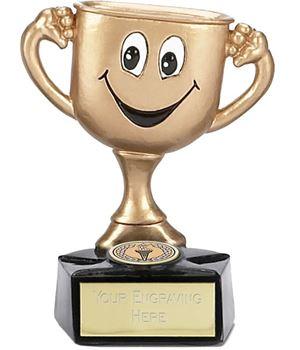 "Large Gold Cup Man 12cm (4.75"")"