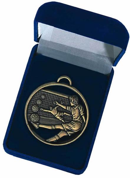 Blue Velvet Silk Lined Medal Box 50mm Recess