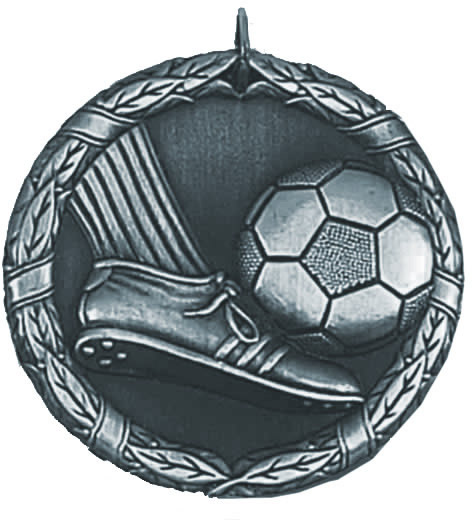 "Laurel Football Silver Medal 50mm (2"")"