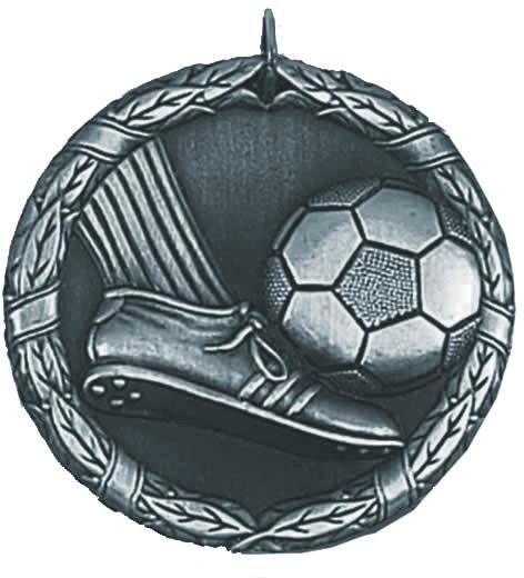 """Laurel Football Silver Medal 50mm (2"""")"""