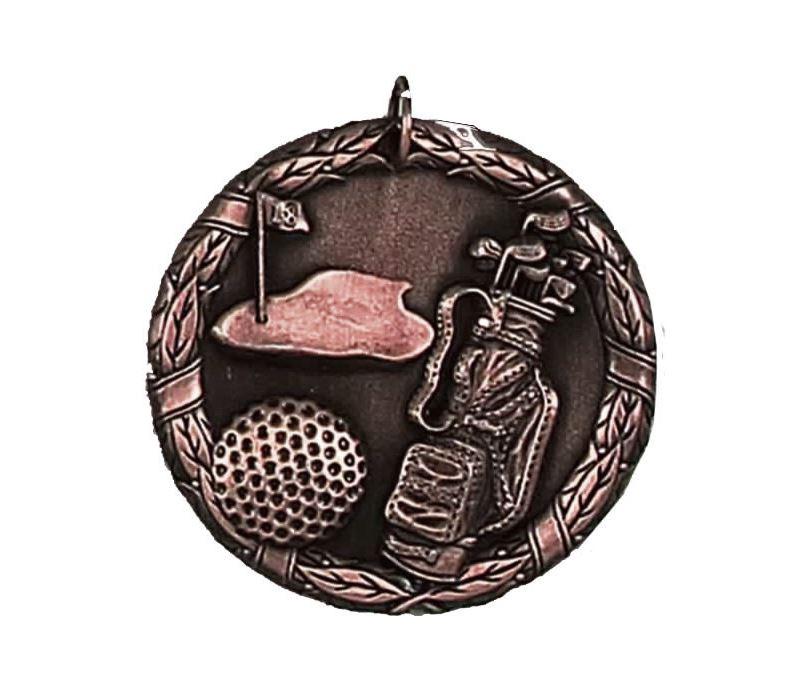 """Laurel Golf Bronze Medal 50mm (2"""")"""