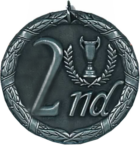 "Laurel 2nd Place Medal 50mm (2"")"