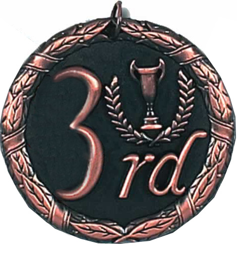 "Laurel 3rd Place Medal 50mm (2"")"