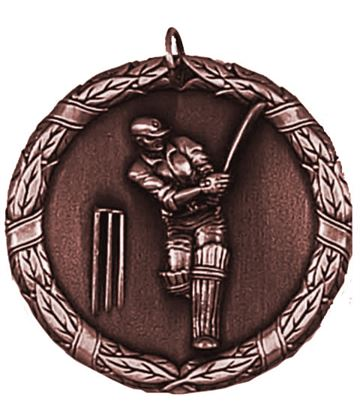 "Laurel Cricket Bronze Medal 50mm (2"")"