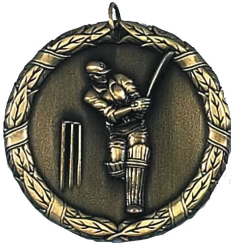 "Laurel Cricket Gold Medal 50mm (2"")"