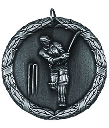 "Laurel Cricket Silver Medal 50mm (2"")"