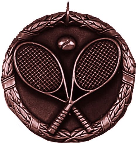 "Bronze Laurel Tennis Medal 50mm (2"")"