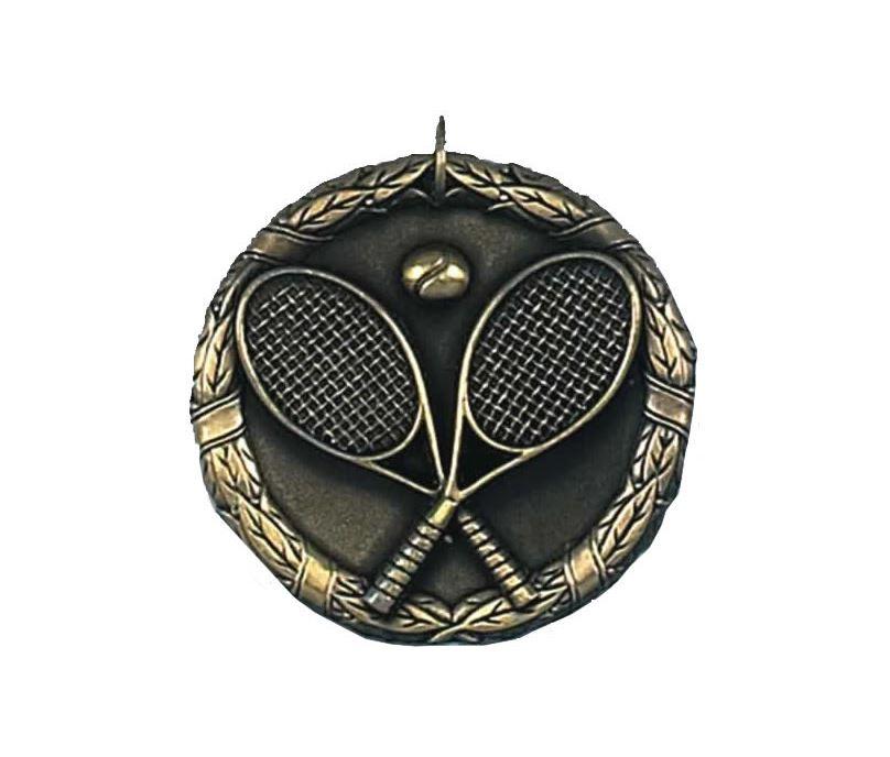 """Gold Laurel Tennis Medal 50mm (2"""")"""