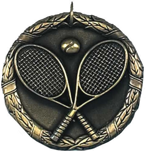 "Gold Laurel Tennis Medal 50mm (2"")"
