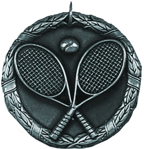 "Silver Laurel Tennis Medal 50mm (2"")"